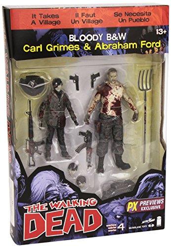 Walking Dead Comic Series 4PX Carl und Abraham Action Figur (2Stück)