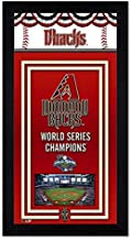 Photo File Arizona Dbacks Miniframe World Series Championship Banner 6.75x13 Framed with Glass and Ready to Hang