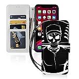 スケルトン野球 Iphone11スマホケース 手帳型 レザー 財布型 ワイヤレス充電可能 マグネット式……