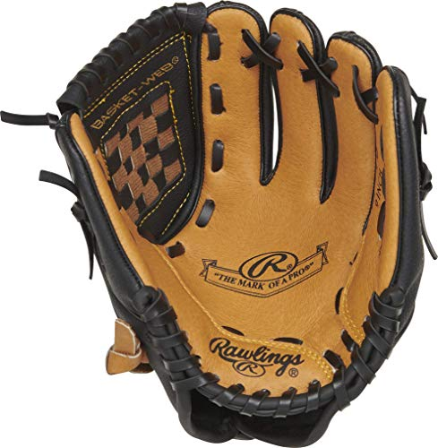 Rawlings Mark of a Pro Youth Tball Glove, 9 inch, Left Hand Throw, Black/Camel (MODMP9TB-6/0)