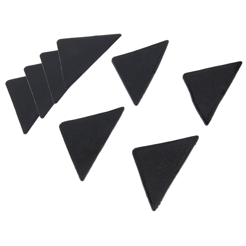 光沢のある君主暴徒4 pcs Rug Carpet Mat Grippers Non Slip Anti Skid Reusable Silicone Grip Pads