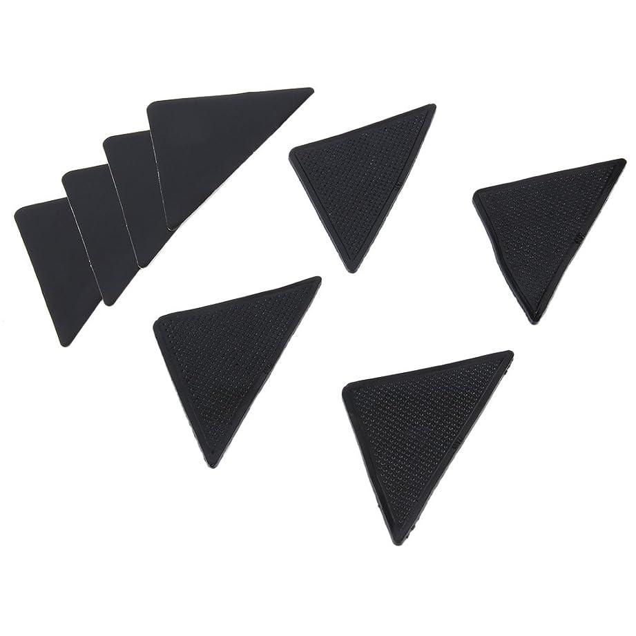 副有害なほこり4 pcs Rug Carpet Mat Grippers Non Slip Anti Skid Reusable Silicone Grip Pads