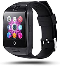 Zeekart Q18 Black Android/iOS Compatible Bluetooth Smart Watch All 2g, 3g,4g Phone with Camera and Sim Card Support with A...