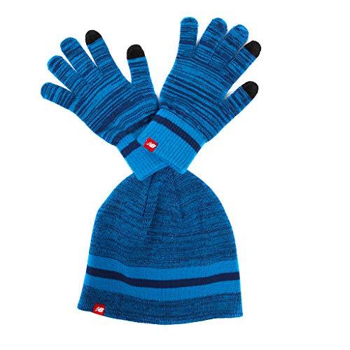 New Balance Urlaub Geschenk-Set Mütze und Handschuhe Einheitsgröße Laser-Blau