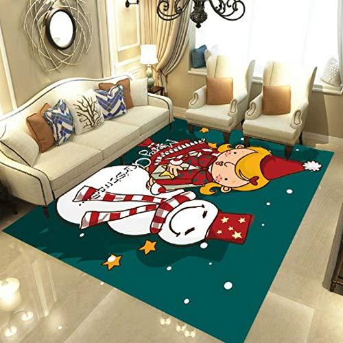 Estilo Europeo Simple Navidad Ancianos Elk Alfombra Antideslizante Engrosamiento Hogar Dormitorio Alfombra Baño Entrada Sala De Estar Dormitorio Alfombra