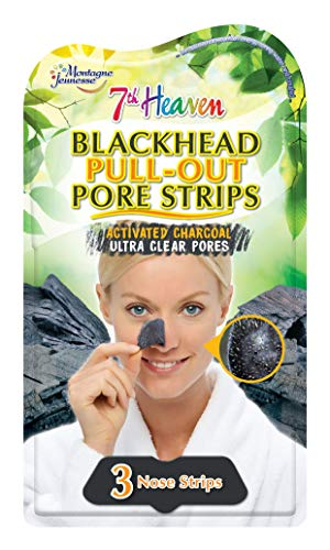 7th Heaven Blackhead Pull-Out Pore Strips with Activated Charcoal, Squeezed...