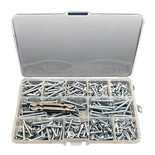 nuzamas caja de 210Tek tornillos Philips Self perforación oblea cabeza y cabeza redonda para hoja de metal Fijación 13mm 16mm 19mm 25mm 32mm 38mm 2libre unidad Bits