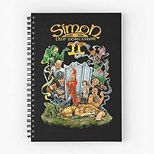 Simon Games Game The Wizard Computer Amiga Pc Sorcerer Cuaderno espiral lindo de cinco estrellas de la escuela con impresión duradera