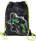 Unbekannt Sportbeutel - Turnbeutel - Schuhbeutel __  Motorrad Kawasaki ZX-10R - Ninja  - wasserfest...