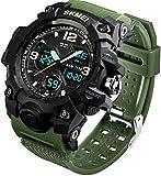 MJSCPHBJK Men's Analog Sports Watch, LED Military...