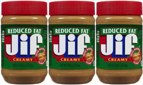 Jif Creamy Reduced Fat Peanut Butter, 16 oz, 3 ct