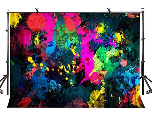LYLYCTY 7×5ft Abstract Graffiti Painting Photography Backdrop Party Game Video Studio Photo Background Props BG001