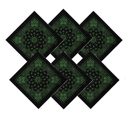 Pañuelo bandana, algodón, unisex, paquete de 6 Color D 6 Piezas