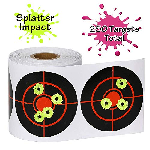 "25 Pack 18/""x24/"" Shooting Splatter Targets High Visibility Gun Shots Paper Target"