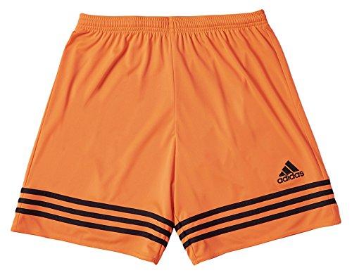 Adidas Entrada 14, Pantaloncini Bambino, Multicolore (Arancione/Nero), 116