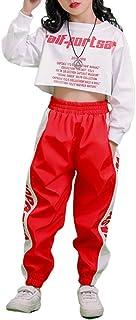 3 Piezas Conjunto de Disfraces de Hip Hop para niñas Street Dancewear Traje de Danza Moderna