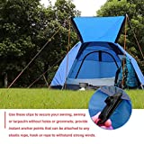 su-xuri 4pcs Tarpaulin Clips, Tent Clip Adjustable, Plastic Windproof Tent Clip, 3.15x1.02x1.1in Reusable Outdoor Tarpaulin Clips For Activities Camping Canopy Clip Nylon Spiral Top Sale