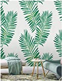 Tropical Palm Peel and Stick Wallpaper Shiplap Green Leaf Self Adhesive Removable...