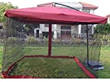 zvcv Paraguas para Exteriores Paraguas para Mosquiteros para Exteriores Paraguas para Mosquiteros Paraguas Anti-Invasión De Mosquitos Adecuado para Exteriores (Color: Verde Oscuro, Tamaño: Espesar)