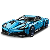 KareFLASH American Vette Sports Race Car Building Kit and Engineering | Lego and Major Brands Compatible | Adult Collectible | Engine, Gears and Suspension | Big Model 1:8 Scale | 2700 Pieces