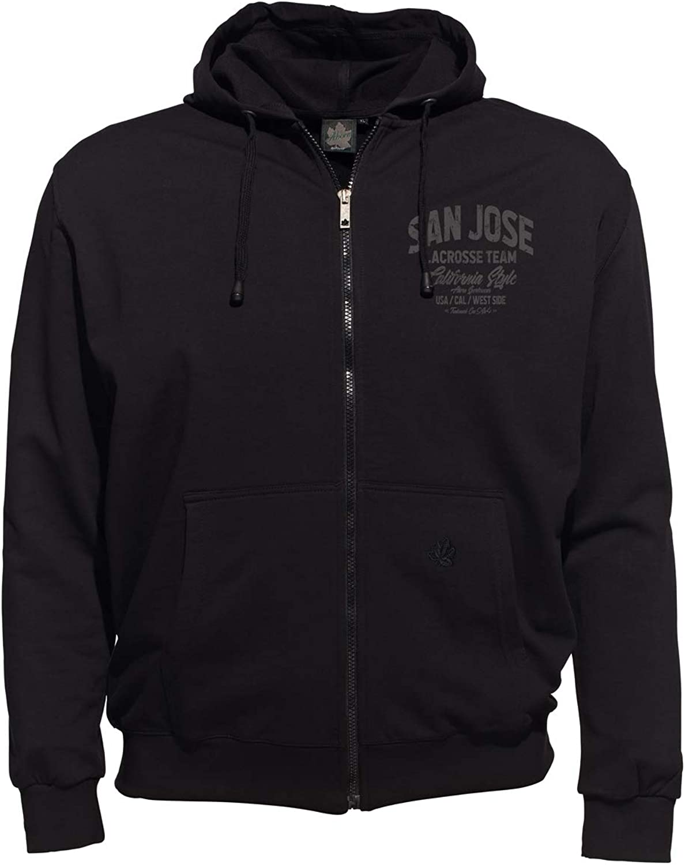 Ahorn Sportswear übergren   Kapuzen-Sweatjacke San Jose grau 3 Farben
