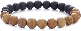 Xington Energy Bead Bracelet - Matte Black Onyx & Tiger Eye Organic Gemstones