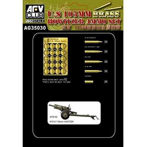 AFV Club AFAG3530 Brass US 105mm Ammo Set 1:35