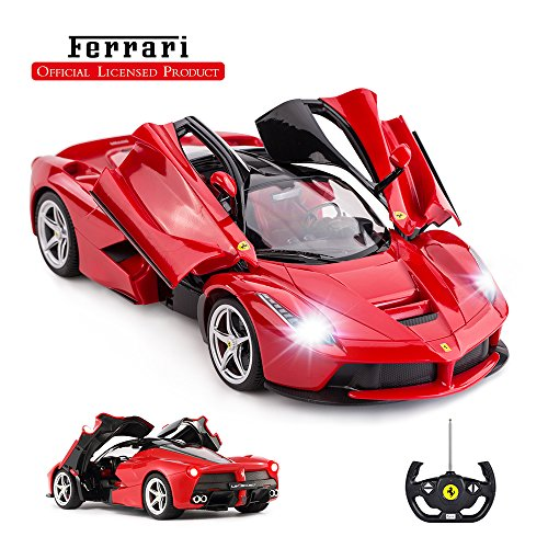 rastar Ferngesteuertes Auto by 1/14 Ferrari LaFerrari Funkfernsteuerung R / C Spielzeugauto Modellfahrzeug für Jungen Kinder, Rot