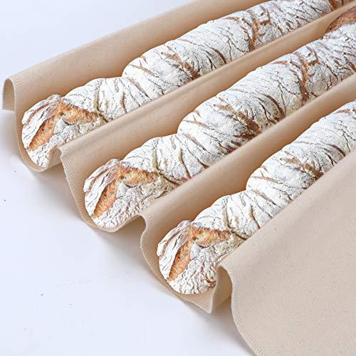 AIEX 90 * 66 cm Professionelles Proofing Tuch aus reinem Baumwollbrot Handtuch Dickes Brot Backtuch