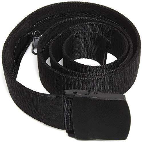 CampTeck U6889 Cinturon de Dinero Cinturon de Viaje Antirrobo - Nylon y Plástico, Viajes, Vuelos - Negro