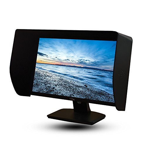 iLooker-20E 19-20 Inch Black LCD LED Video Monitor Sunshade Hood for 460-480mm Width Monitor Frame