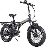 Bicicleta electrica, Bicicleta eléctrica plegable para adultos, 7 velocidades Mountain Mountain Bike Electric Bike 350W WATT MOTOR, TRES MODOS ASISTENCIA DE MONTAJE, PANTALLA LED COMPUESTE DE BICICLET