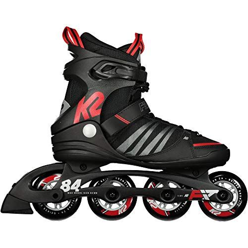 K2 Herren F.I.T. 84 Speed Alu Skateboardschuhe, Schwarz (Black/Red 001), 46 EU