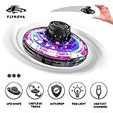 Mini Drone UFO Flying Toy pour Enfants et Adultes Contrôlée à la Main FlyNova Ballon Volant, USB Recharger Avion Interactive Intérieur Hélicoptère avec 360 ° Rotation et 5 Lumières LED Jouet (Noir)