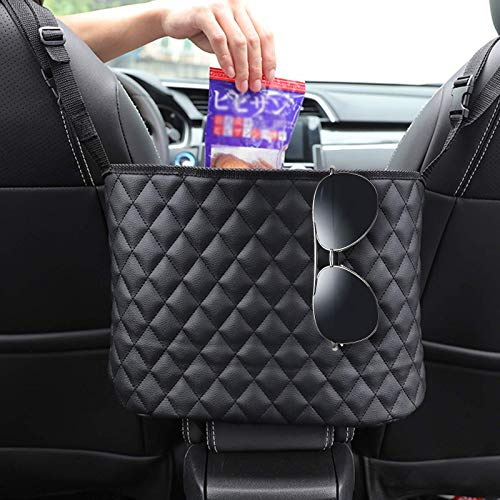 Car Seat Storage Organizer and Handbag Holder Upgraded Leather Handbag Holder for Purse Storage Phone Documents Pocket Barrier of Backseat Pet Kids