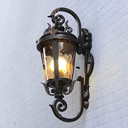Lámpara De Pared De pared exterior Aplique de pared Lámpara aplique Corredor tradicional Porche Patio accesorio de iluminación con base E27 (Color : Xl)