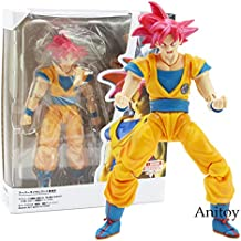 VIETXD Dragon Ball Super Saiyan God Son Goku Red Hair Gokou Dragon-Ball PVC Action Figure Collectible Model Toy 15Cm- Multicolor Complete Series - Legends Gifts Movies Comic Toys Collection