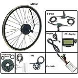 GJZhuan 24V 250W eléctricos de la conversión de Bicicletas Juego de Ruedas Cassette Trasero del Motor del Cubo del Motor con LCD3 Display 16-28 Pulgadas 700 E-Bici Kit,700C LCD Sets