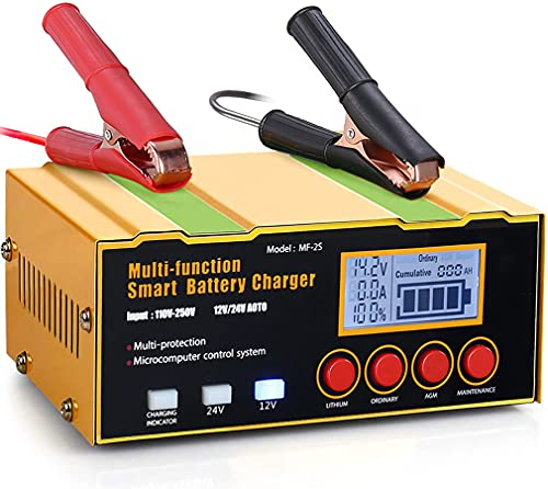 Aibeau Car Battery Charger, 12V/24V 12Amp Automatic Battery Charger...