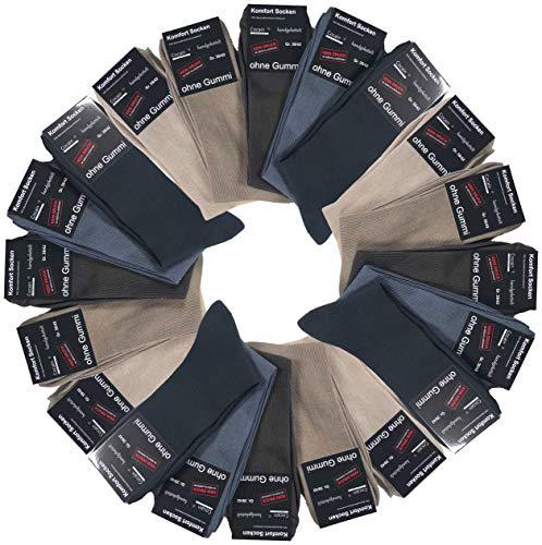 cocain 10 Paar helle schwarze braune weisse Herren Socken ohne Gummi, schwarze socken büro markenware cocain ohne gummibund anzusocken herrensocken ohne gummibund 100 baumwolle gr. 39/42 39-42