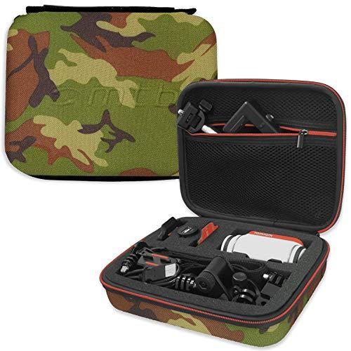 mtb more energy® Estuche (XL, Camuflaje) para Garmin Virb Elite, X, XE/Contour Roam 3 / Ghost-S/Tomtom Bandit. - Bolsa Funda Sistema Modular