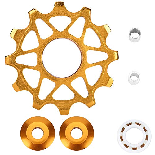 Yevenr Bike Derailleur Pulley, Lightweight Bike Rear Derailleur Pulley Mountain Bike Derailleur Pulley Derailleur Pulley Gold(Gold)