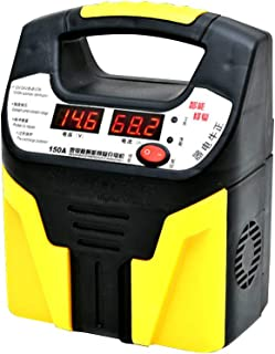 12V/24V Car Battery Charger Intelligent Pulse Repair Jump Starter Booster with Yellow, Black