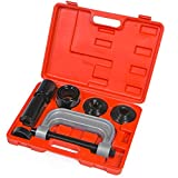 XtremepowerUS Universal 4-in-1 Ball Joint Service Auto Tool Set 2WD & 4WD Auto Repair Remover Installer Extractor Removal Mechanic w/Case