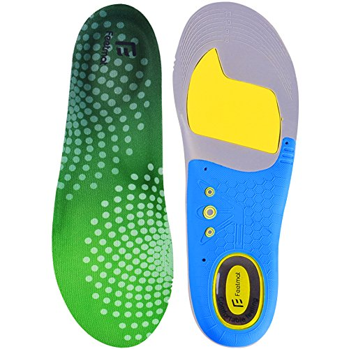 Feetmat Men's&Women's Orthotics Shoe Inserts, Comfort Athletic Arch Sport Insoles,Sizes 8-12