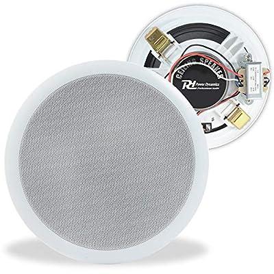 """Power Dynamics 100V Line 6.5"""" Restaurant Office Bar Shop White Ceiling Speaker"""