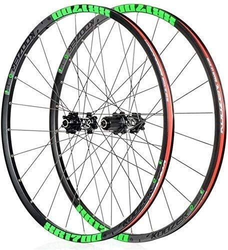 Ruedas Bicicleta llantas MTB 26 '/27.5' bicicleta de ruedas, freno de disco de la rueda delantera de la rueda de aleación de rueda trasera de liberación rápida rojo hub 24H Shimano o Sram 8 9 10 11 ve