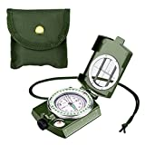 ENKEEO Brújula Militar, Multifuncional Compass/Compás con Alta Precisión, Impermeable Caja de...