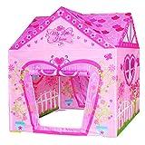 POCO DIVO Floral Princess Castle Girls Pink Palace Play Tent Kids Pretend Fairy Playhouse