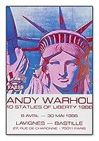 ポスター アンディ ウォーホル 10 Statues of Liberty 1986